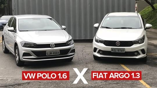 Volkswagen Polo 1.6 x Fiat Argo 1.3: comparativo