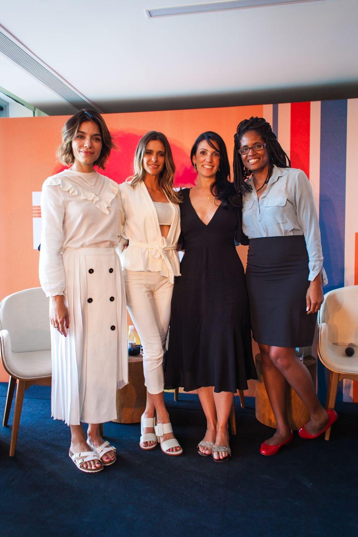 Laura Ancona, Fernanda Lima, Karina Meyer e Djamila Ribeiro durante Summit Marie Claire (Foto: Charles Nasseh)