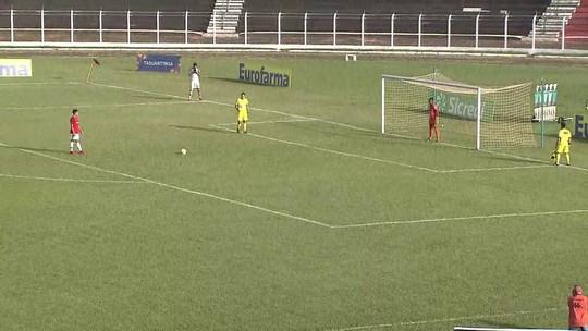 Os pênaltis de Taquaritinga 6 x 7 Internacional pela segunda fase da Copa SP de futebol júnior