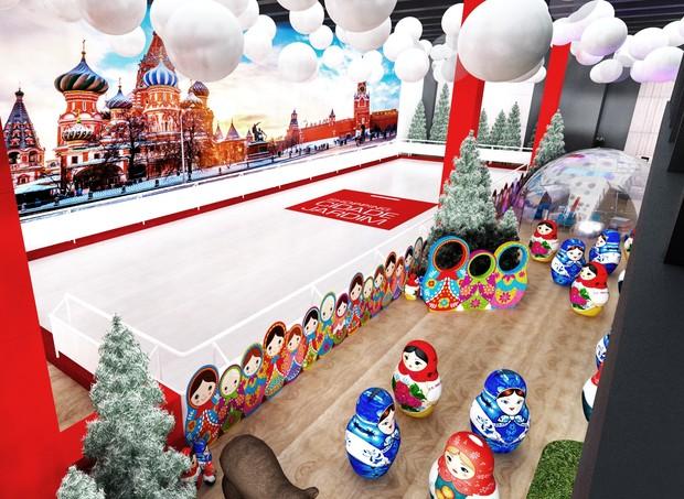 Shopping Cidade Jardim recebe pista de patinação com tema Rússia (Foto: Divulgação)