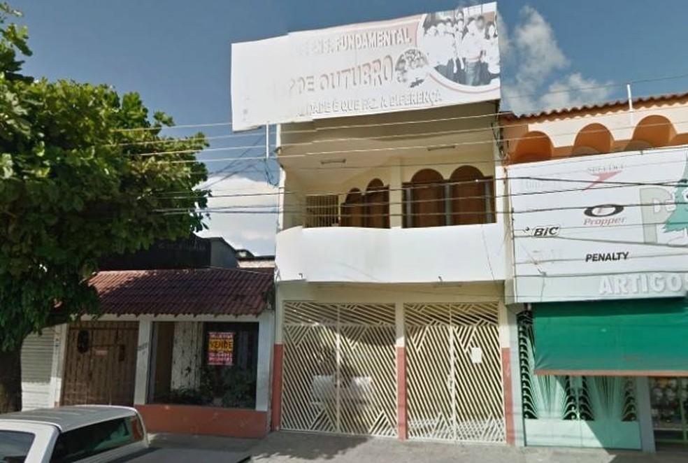 Escola 15 de Outubro, no bairro do Guamá, em Belém. — Foto: Reprodução / Redes sociais