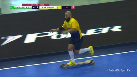 Gol do 8 e 6 no jogo dos craques do futsal