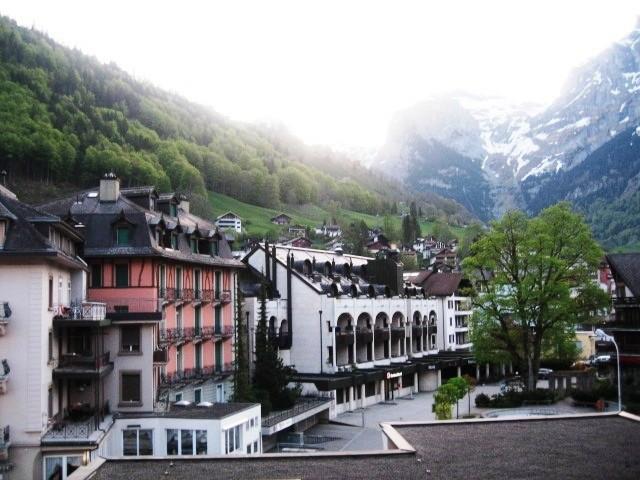 Vista da cidade de Engelberg, na Suíça (Foto: Wikimedia Commons)