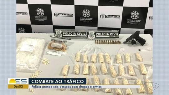 Seis suspeitos de tráfico e posse de armas são presos no ES
