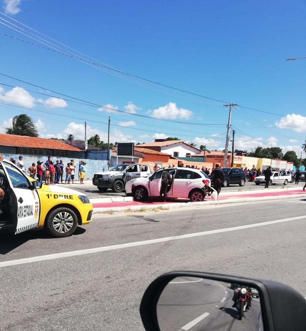 Confronto aconteceu na Avenida Moema Tinoco, na Zona Norte de Natal — Foto: Redes sociais