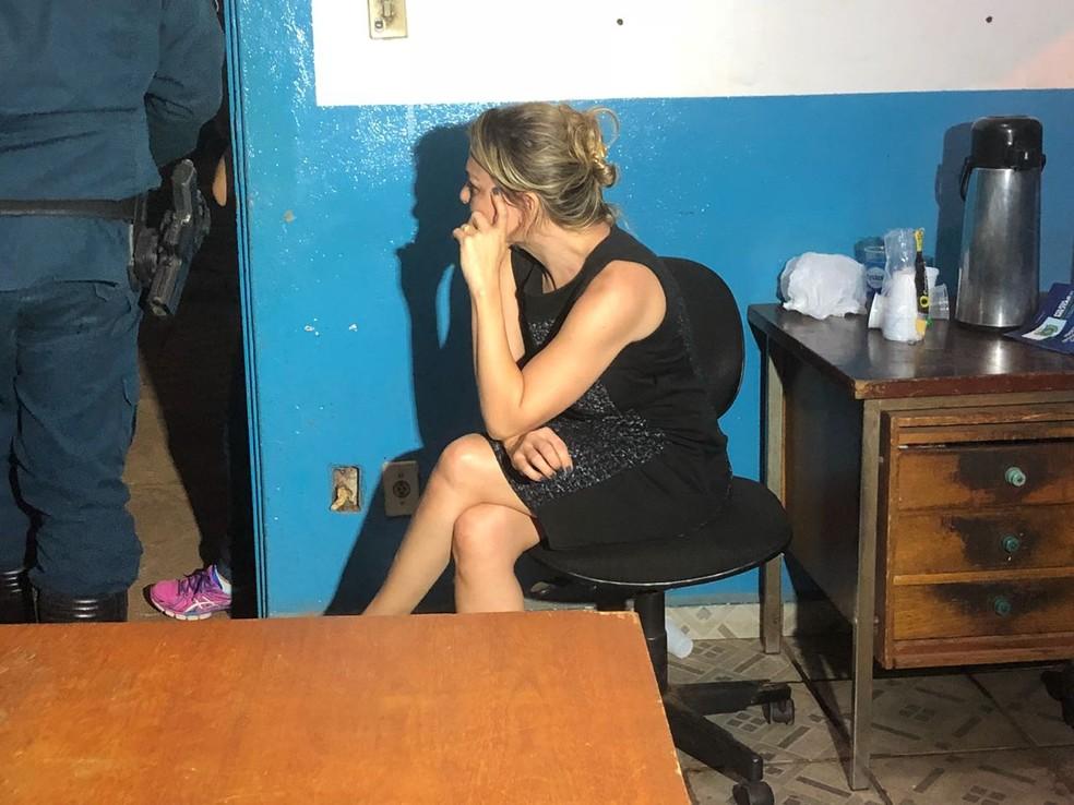 Advogada presa por suspeita de envolvimento em golpe milionário em MS (Foto: Allysson Maruyama/TV Morena)
