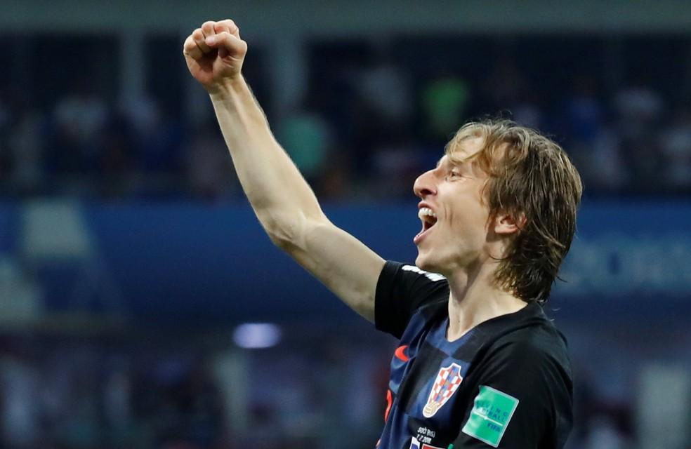 Modric foi eleito em três oportunidades melhor do jogo na Rússia (Foto: Kai Pfaffenbach / Reuters)