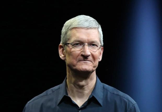 O CEO da Apple Tim Cook durante apresentação dos produtos da empresa  (Foto: Robert Galbraith/Reuters)