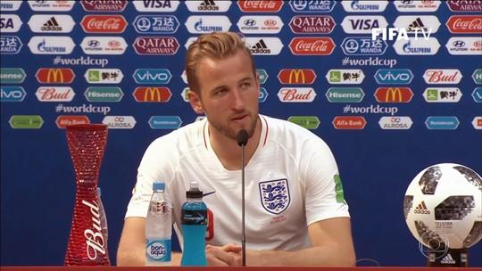 Sabe de Kane? Artilheiro da Copa pede música no Fantástico após fazer 3 gols
