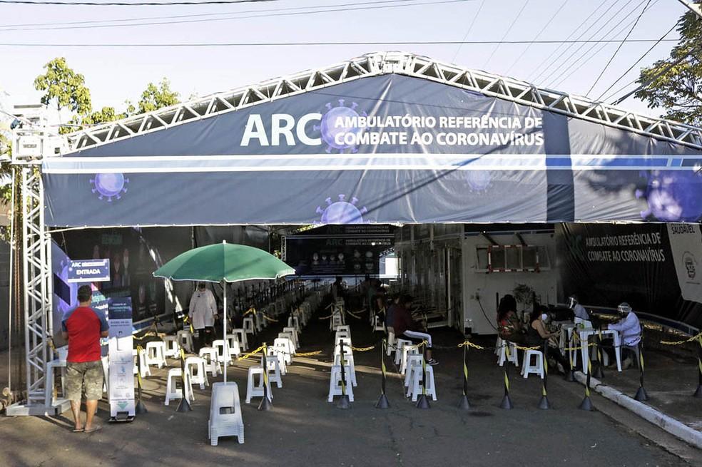 Ambulatório Referência de Combate ao Coronavírus, em Limeira — Foto: Eduardo Zanzirolamo/ Prefeitura de Limeira