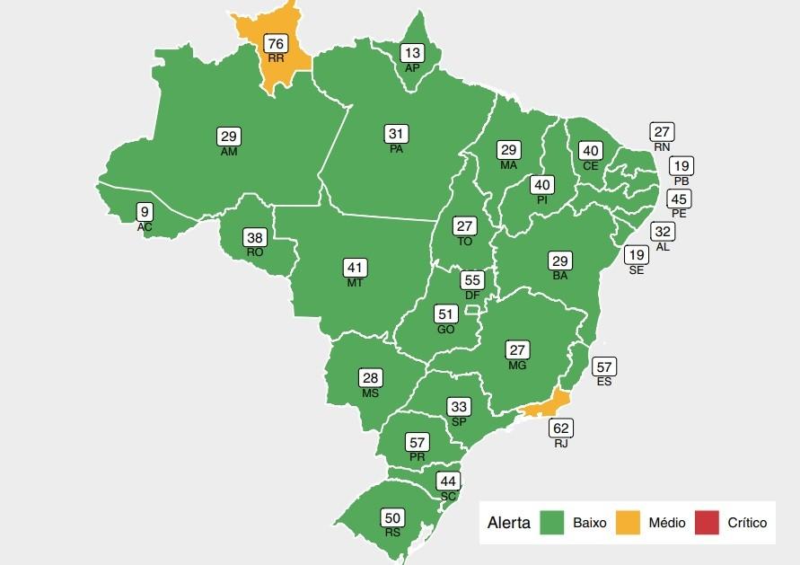 Ceará se mantém pela 9ª semana seguida fora da zona de alerta de ocupação de UTIs por Covid, diz Fiocruz