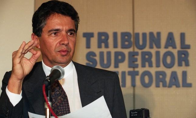 O ministro Marco Aurélio Mello, em imagem de novembro de 1996