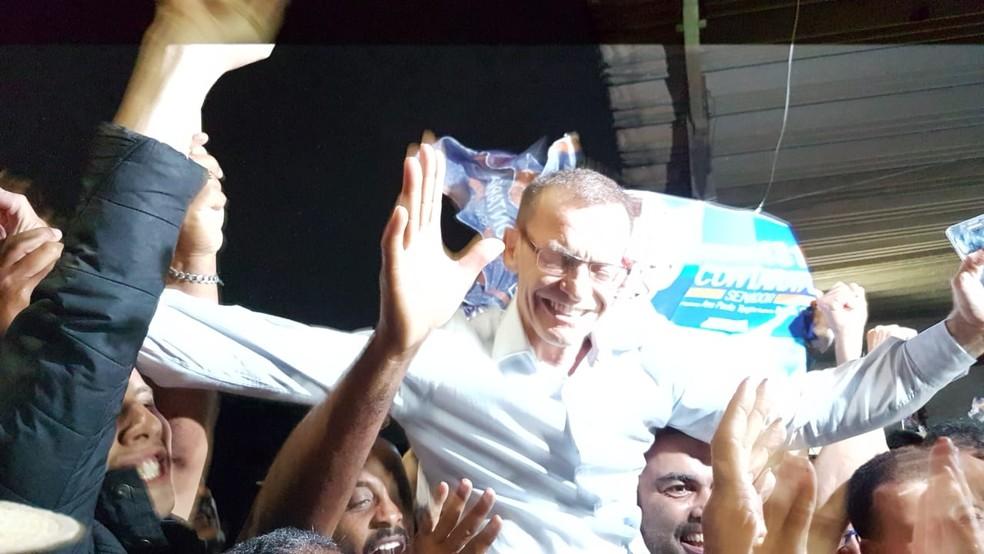 Delegado Fabiano Contarato foi eleito senador pelo Espírito Santo — Foto: Luiza Marcondes/ G1