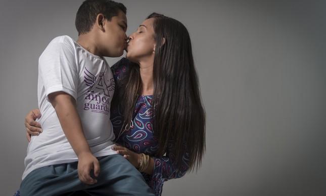 Transplante salvou Marcos, filho de Gabriele