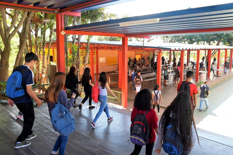 Estudantes de escola pública do Distrito Federal — Foto: Mary Leal/Secretaria de Educação