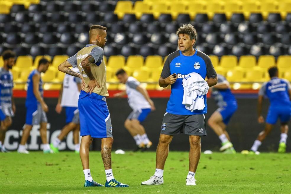 Luan é um dos jogadores mais antigos no elenco atual (Foto: Lucas Uebel/Grêmio)