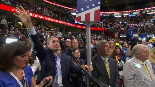 Convenção republicana tem protestos após proposta anti-Trump falhar