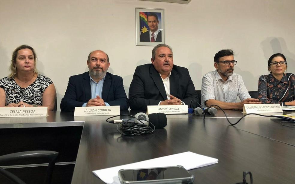 Secretaria Estadual de Saúde divulgou três novos possíveis casos suspeitos de coronavírus em Pernambuco — Foto: Pedro Alves/G1