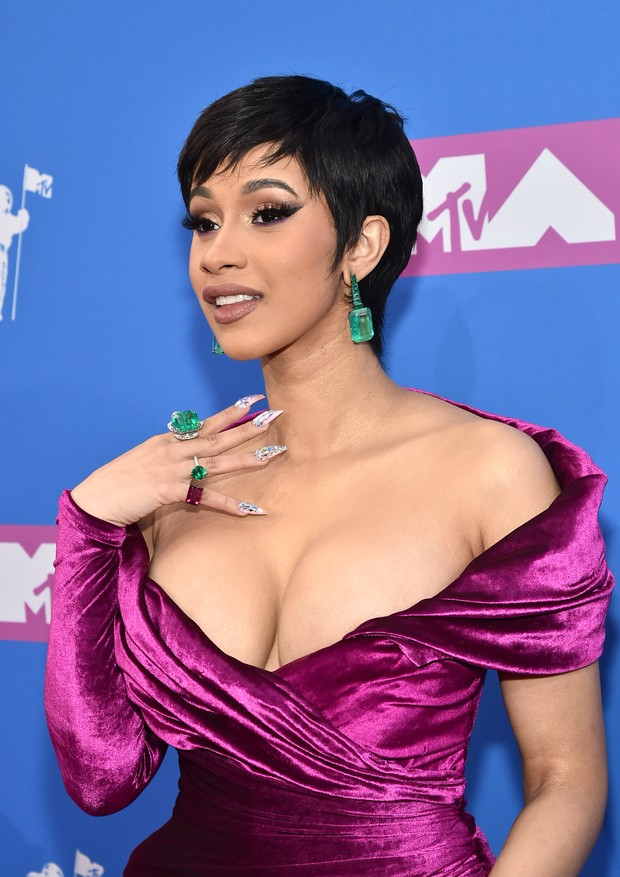NEW YORK, NY - AUGUST 20:  Cardi B attends the 2018 MTV Video Music Awards at Radio City Music Hall on August 20, 2018 in New York City.  (Photo by Mike Coppola/Getty Images for MTV) (Foto: Getty Images for MTV)