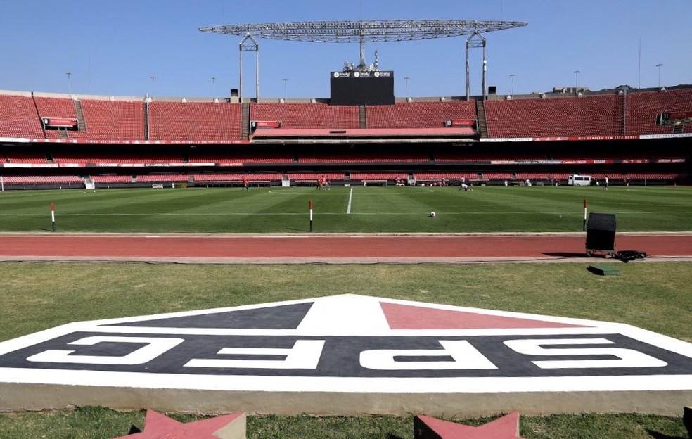 Morumbi e outros estádios vão receber menos de 200 credenciados por jogo — Foto: Reprodução/Twitter