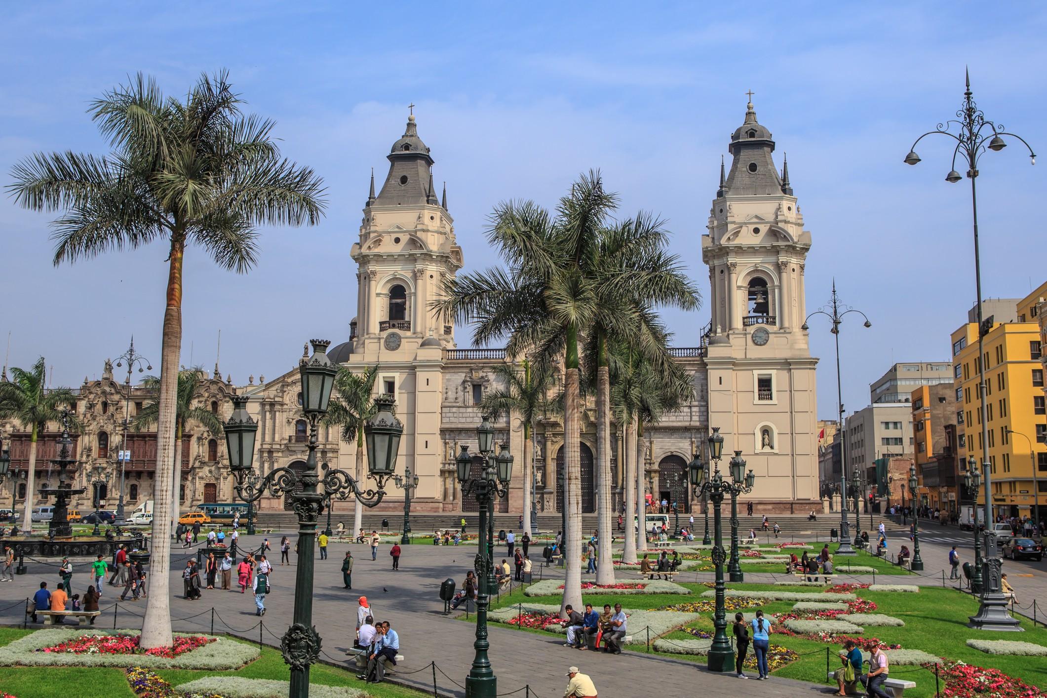 O centro histórico de Lima, capital do Peru (Foto: Wikimedia Commons)