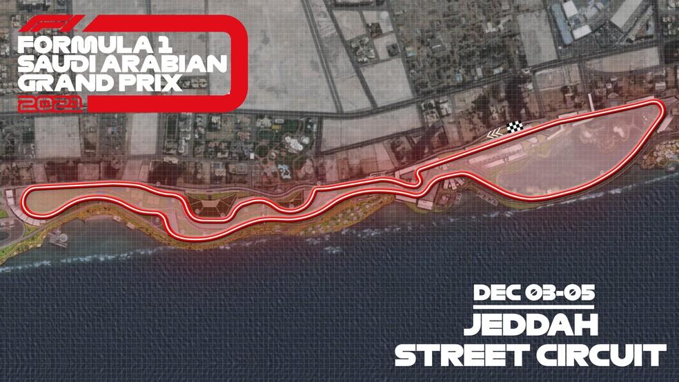 Circuito de rua de Jeddah — Foto: Divulgação