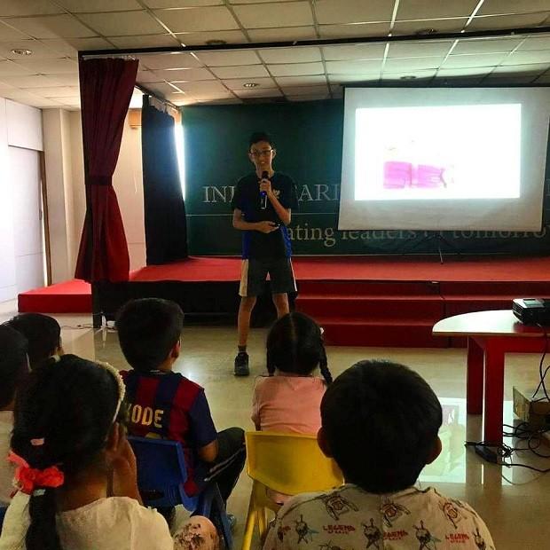 Haaziq Kazi, criador do projeto ERVIS, durante TEDx (Foto: Reprodução/Instagram)