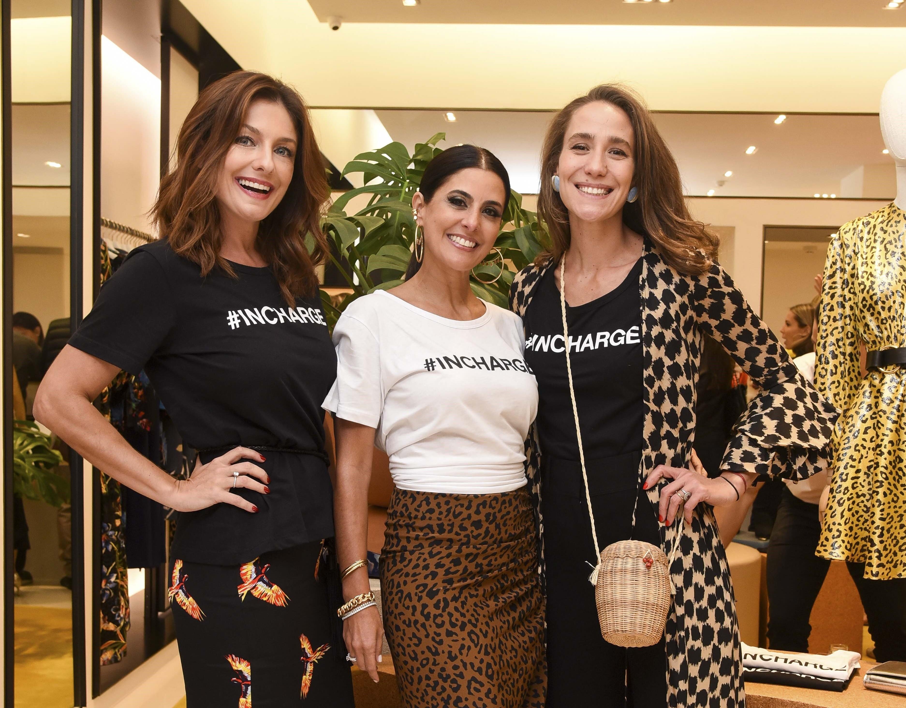 Camilla Guebur, Andrea Conti e Paola de Orleans e Bragança vestiram a camisa do projeto #INCHARGE da DVF em prol da Casa do Rio Tupanã (Foto: Divulgação/Lu Prezia)