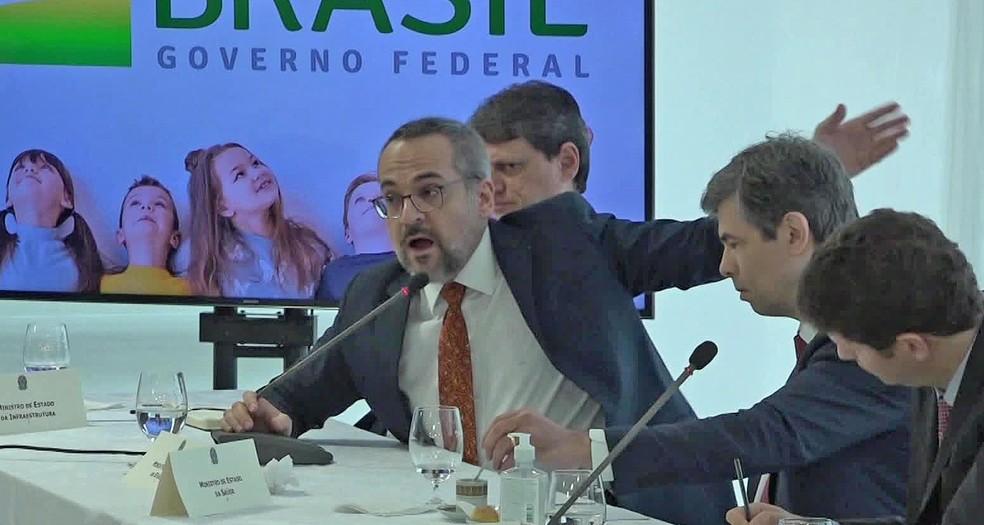 O ministro da Educação, Abraham Weintraub, que defendeu prisão de ministros do STF em reunião do governo — Foto: Reprodução/TV Globo