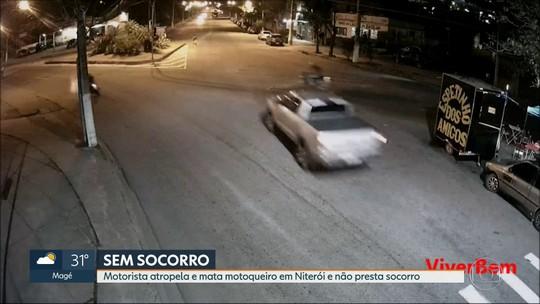 Motorista atropela motoqueiro em Niterói, mata e foge