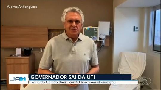 Ronaldo Caiado sai da UTI e já está no quarto de hospital de SP
