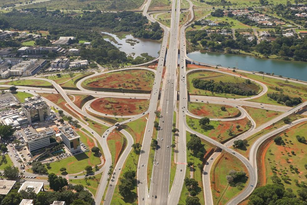 Trecho de obras na Ponte do Bragueto é concluído em abril de 2021 — Foto: Foto Renato Alves/ Agência Brasília