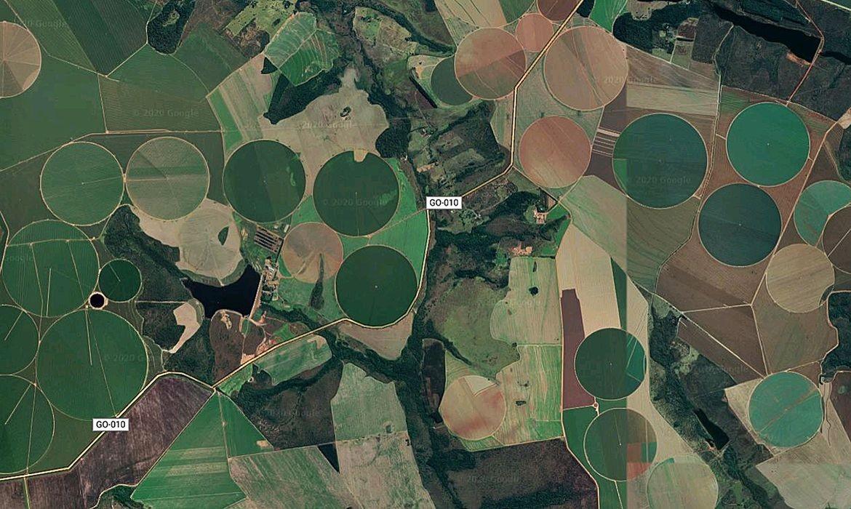 Satélites mapeiam plantações (Foto: Google Maps)