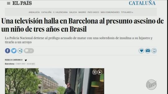 Notícia da prisão do padrasto de Joaquim é destaque na imprensa internacional