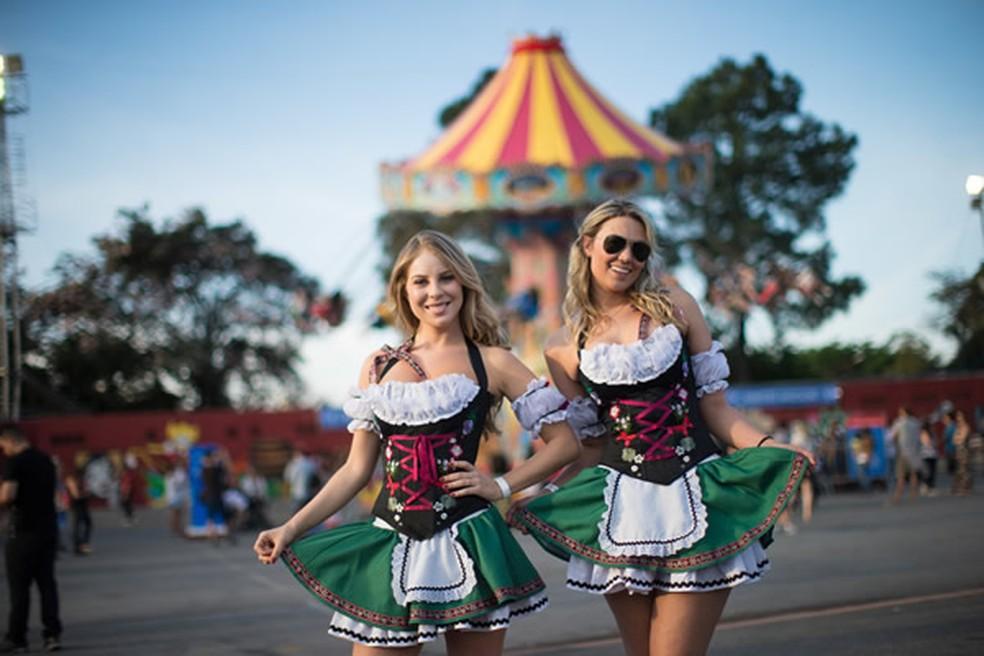 Quem for a SP Oktoberfest usando trajes típicos entrará de graça às quintas; mas é preciso resgatar o ingresso no site — Foto: Felipe Panfilli/Divulgação