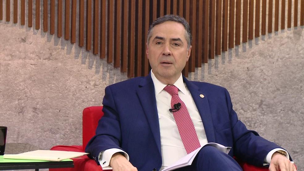 O ministro Luís Roberto Barroso, do Supremo Tribunal Federal — Foto: Reprodução/GloboNews