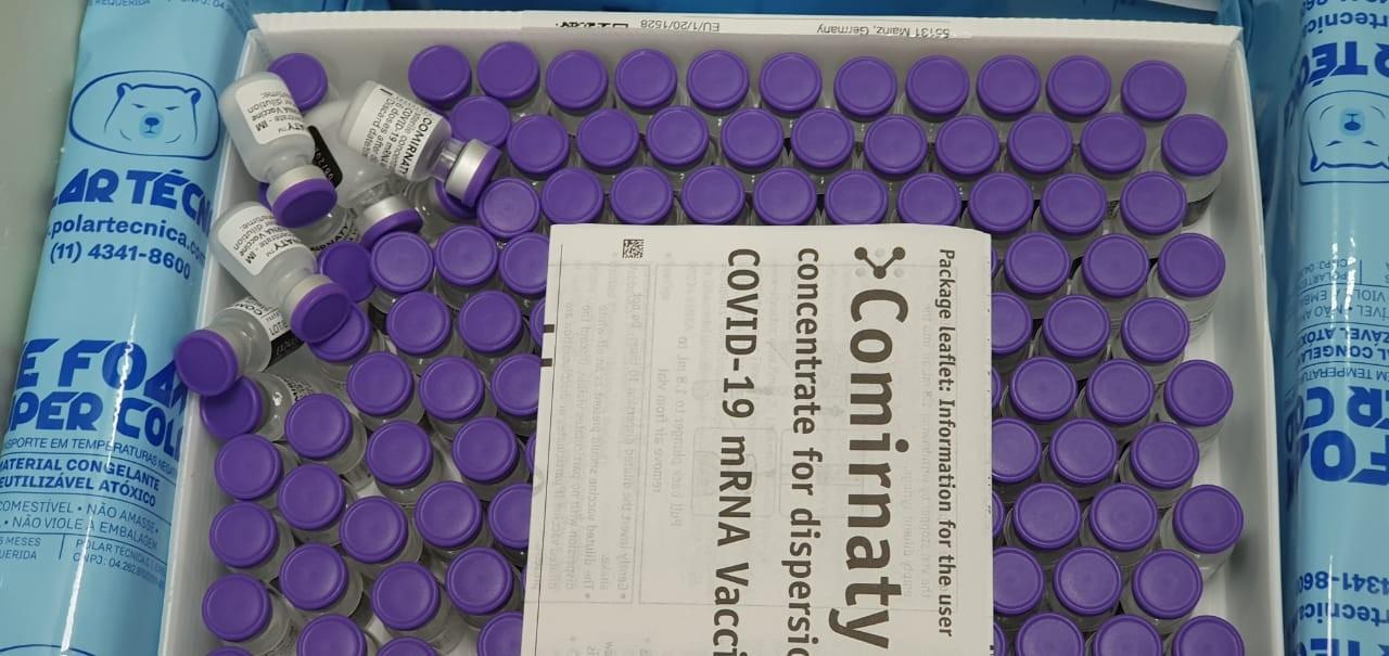 Covid: lote com 628 mil doses da vacina da Pfizer está previsto para chegar a Viracopos nesta quarta
