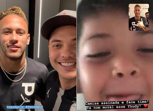 Wesley Safadão tieta Neymar, que fez facetime com filho do cantor (Foto: Reprodução)