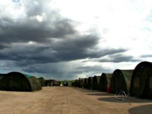 Militares estão alojados em barracas durante Operação Ágata 6 (Foto: Reprodução/TVCA)