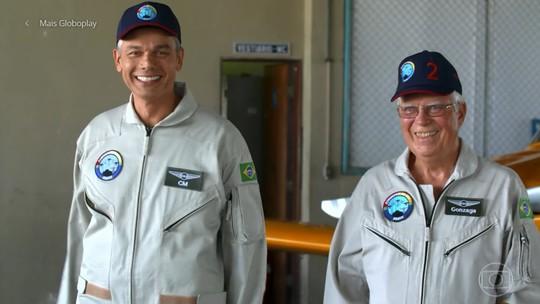 Otaviano Costa voa com ex-piloto da Esquadrilha da Fumaça: 'Eu tô com a perna mole'