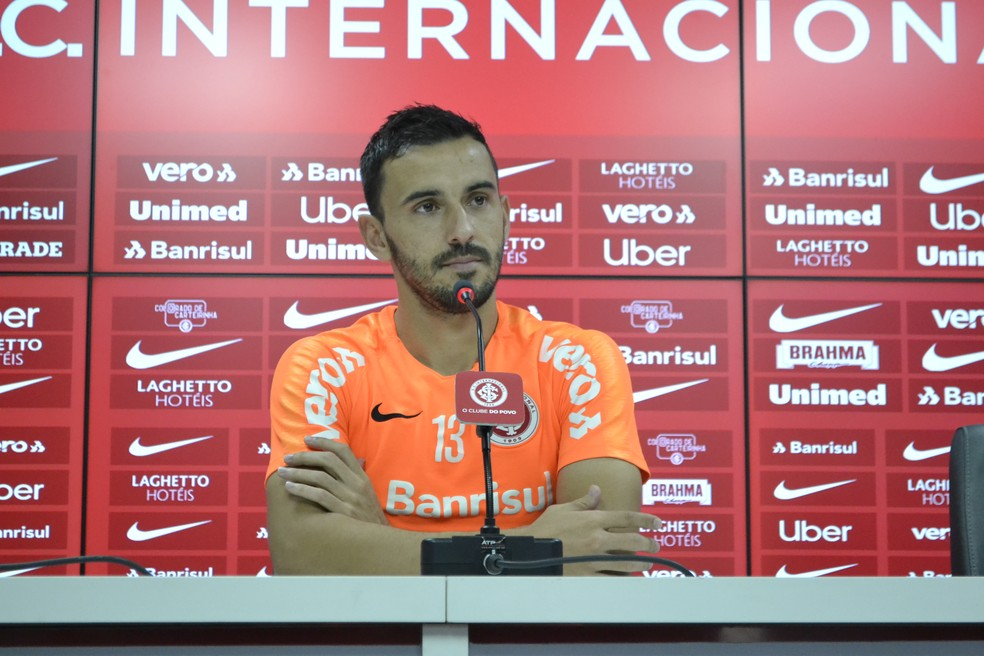Uendel será titular do Inter contra o Ceará — Foto: Eduardo Deconto