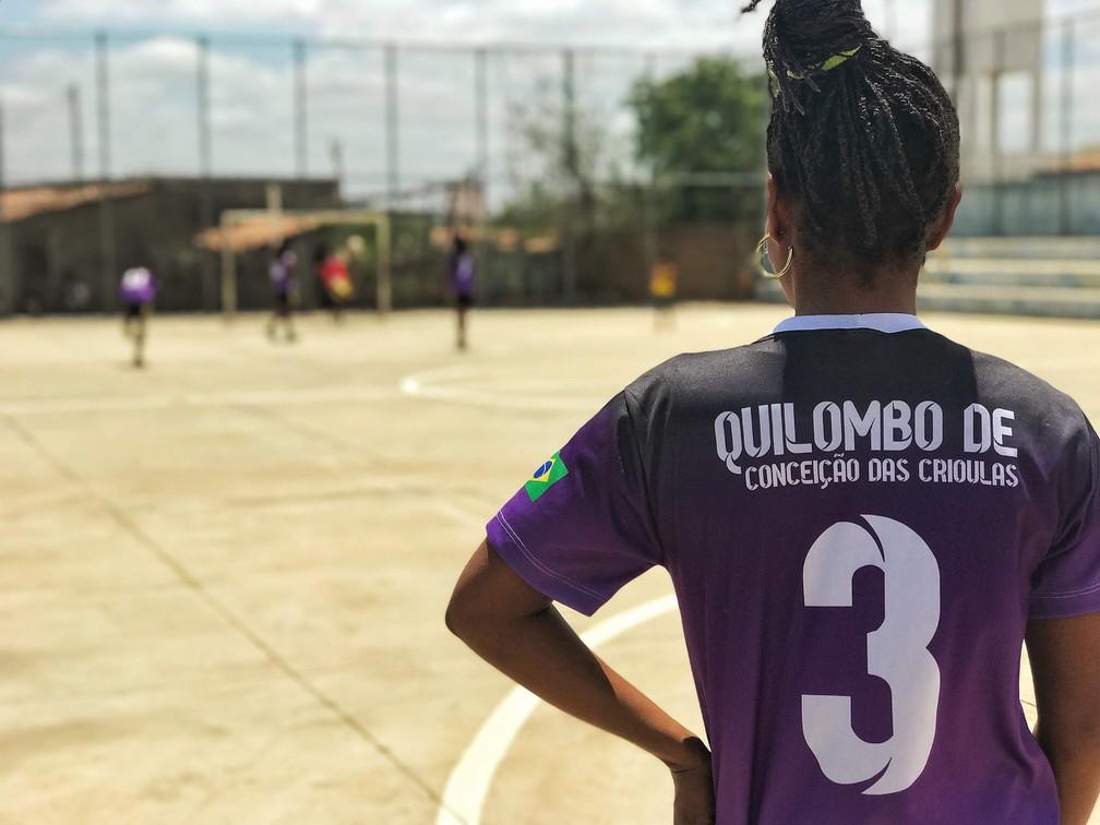 Time de Futsal é orgulho para comunidade de Conceição das Crioulas — Foto: Elton de Castro