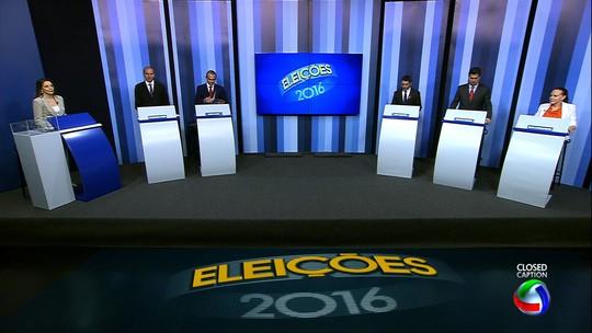 Candidatos a prefeito de Cuiabá participam de debate na TVCA