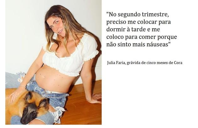 Julia Faria, que fez a novela 'Haja coração' na Globo, está grávida do chef de cozinha Augusto Cavanha (Foto: Reprodução)