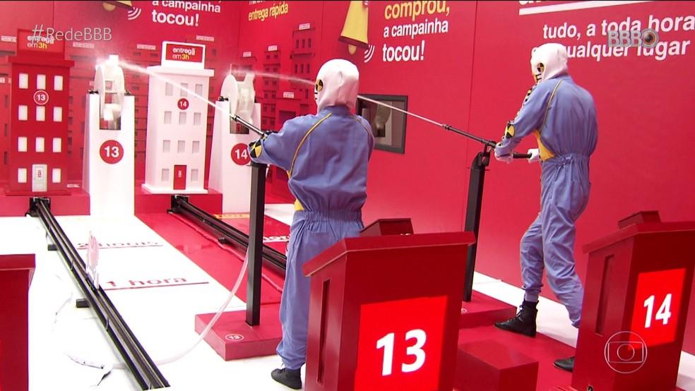 Dummies demonstram como será a Prova Americanas — Foto: Globo