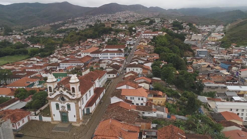 Cidade de Mariana — Foto: TV Globo/Reprodução