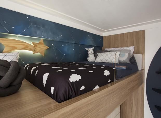 Uma estrela cadente leva à cama de cima (Foto: Adriana Barbosa/ Divulgação)