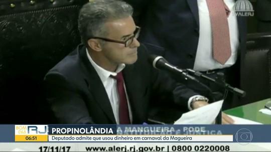 Deputado diz que dinheiro dado por Cabral foi usado na Mangueira