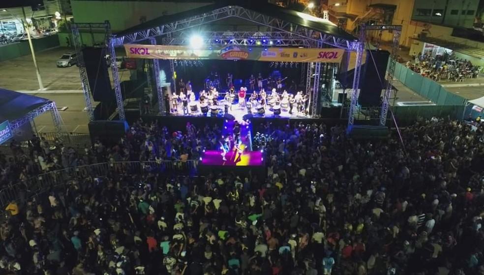 Prefeitura de Curvelo espera receber 60 mil foliões — Foto: Prefeitura/ Divulgação
