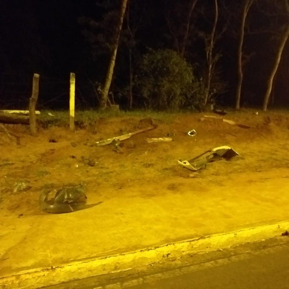 Motorista atropelou casal enquanto participava de racha em avenida de Agudos — Foto: Polícia Civil/Divulgação